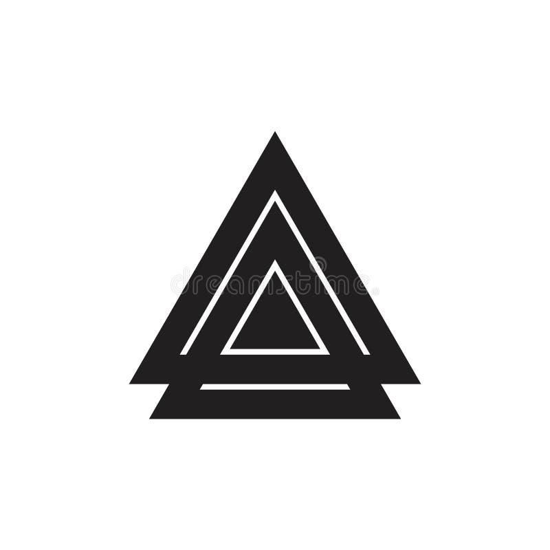 De samenvatting verbonden vector van het driehoeks kleurrijke geometrische embleem stock illustratie