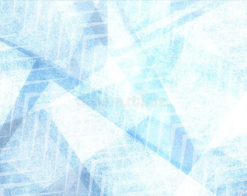 De samenvatting verdween blauw patroonontwerp als achtergrond met textuur en vage zigzagstrepen langzaam royalty-vrije stock fotografie