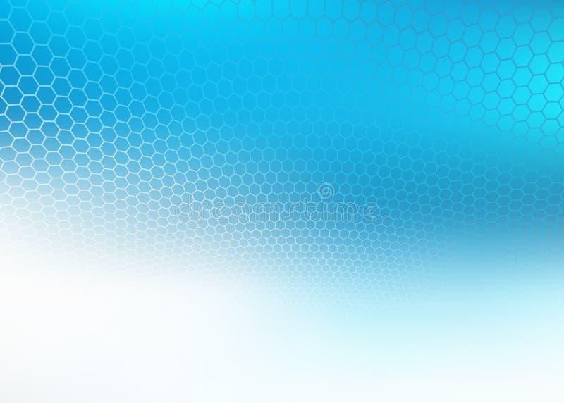 De samenvatting verdween blauwe hexagon ontwerpachtergrond langzaam vector illustratie