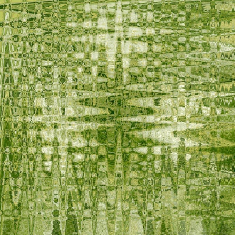 De samenvatting verdween groen patroonontwerp als achtergrond met textuur en vage zigzagstrepen langzaam vector illustratie