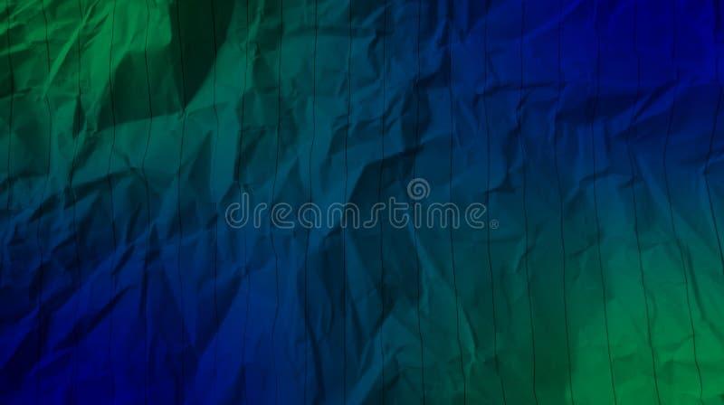 De samenvatting verfrommelde document groene kleur, blauwe kleur, de gevolgenachtergrond van mengsel multikleuren royalty-vrije stock fotografie