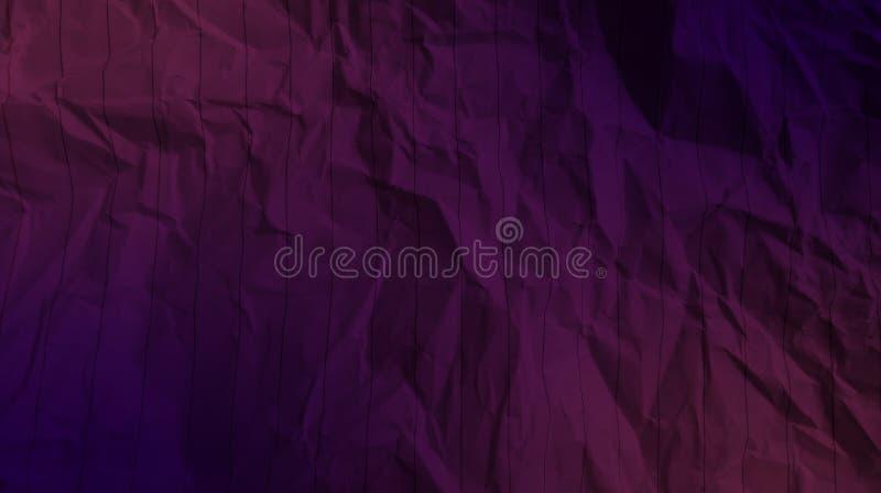 De samenvatting verfrommelde document karmozijnrode kleur, de diepe marineblauwe achtergrond van de kleurengevolgen van het kleur royalty-vrije stock fotografie
