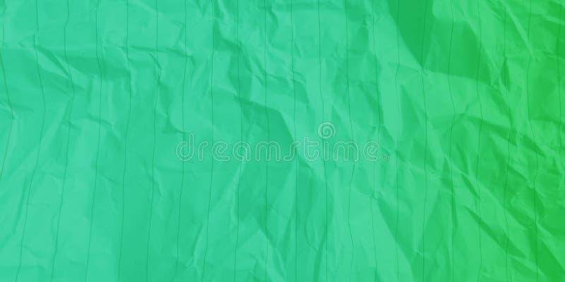De samenvatting verfrommelde document oceaan groene achtergrond van de kleurengevolgen van de gras groene kleur multi royalty-vrije stock fotografie