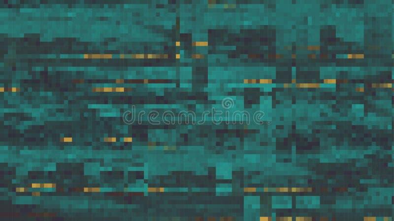 De samenvatting versplinterde Lawaaierige Pixelachtergrond - Vectorillustratio vector illustratie