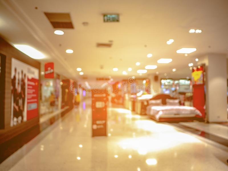 De samenvatting vertroebelde en defocused van het winkelen warenhuis royalty-vrije stock foto's
