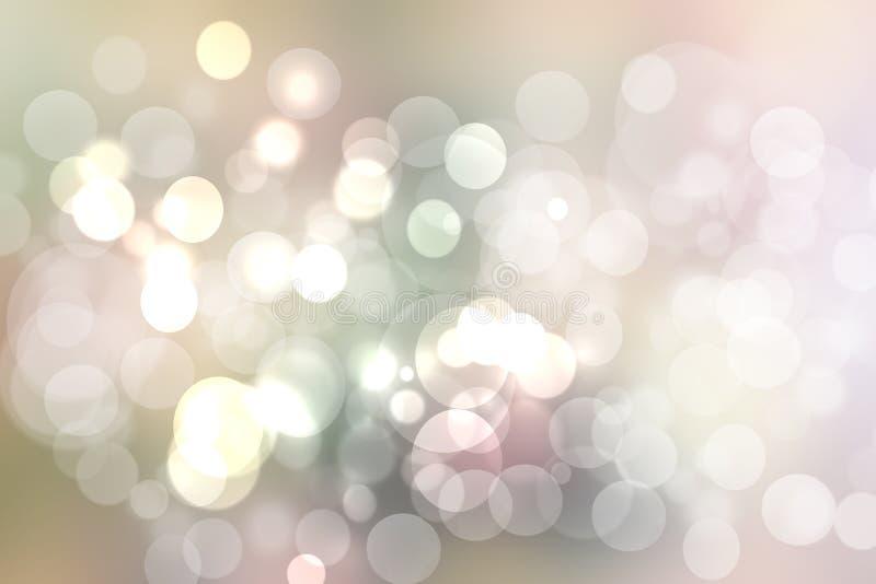 De samenvatting vertroebelde levendige van de de lentezomer lichte gevoelige pastelkleur gekleurde bokeh textuur als achtergrond  stock illustratie