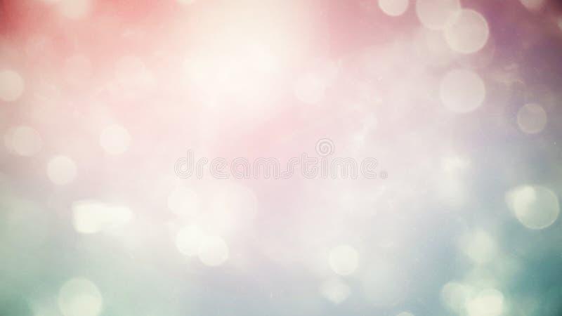 De samenvatting vertroebelde de mooie gloeiende achtergrond van de pastelkleurgradiënt met dubbel blootstellings bokeh licht stock foto
