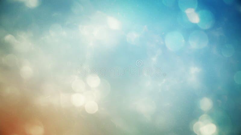 De samenvatting vertroebelde de mooie gloeiende achtergrond van de pastelkleurgradiënt met dubbel blootstellings bokeh licht royalty-vrije stock foto's