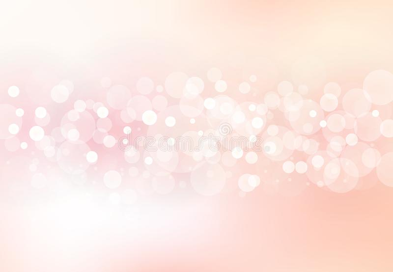 De samenvatting vertroebelde zachte nadruk bokeh van helder roze kleurenconcept als achtergrond vector illustratie
