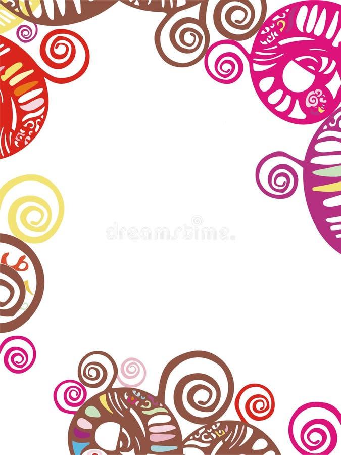 De samenvatting vormde decoratieve grens met spiraalvormig s stock foto's