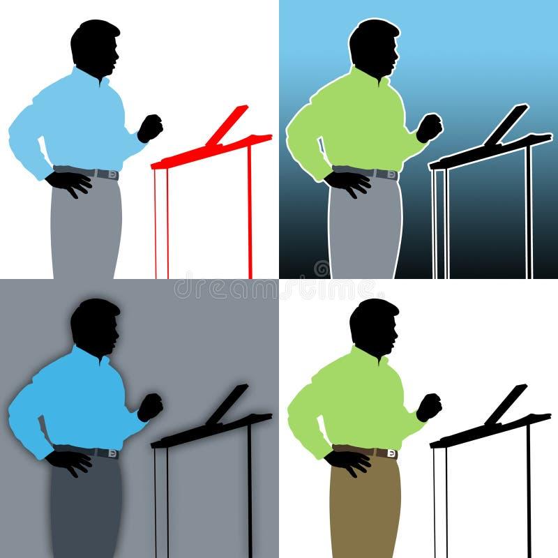 De Samenvattingen van de spreker vector illustratie