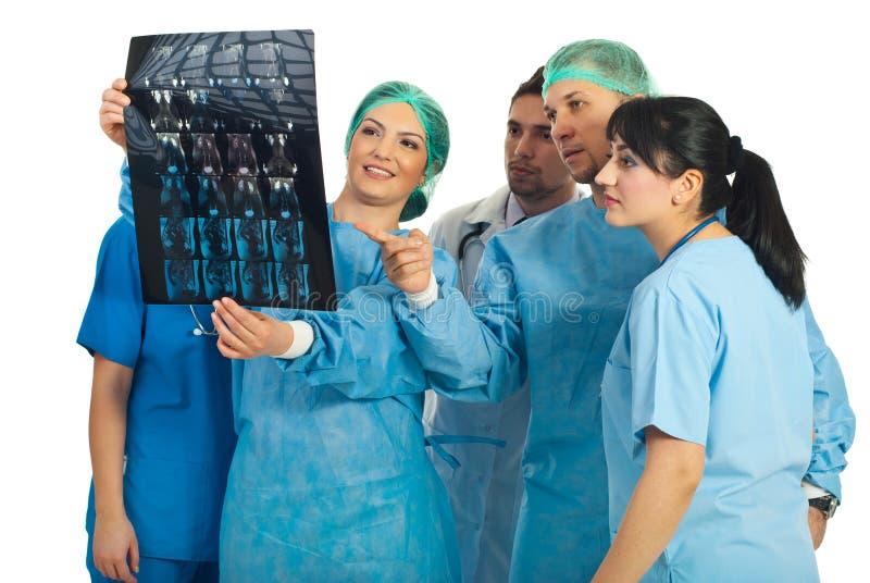 De samenwerking van artsen stock afbeeldingen