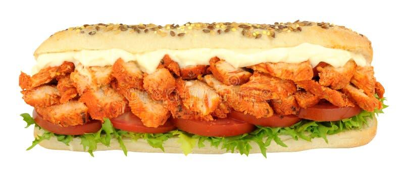 De Sandwich Subbroodje van kippentandoori stock afbeeldingen