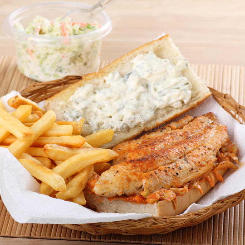 De Sandwich van de Filet van vissen royalty-vrije stock fotografie