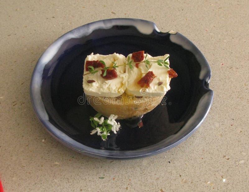De sandwich van de geitenkaas royalty-vrije stock afbeeldingen