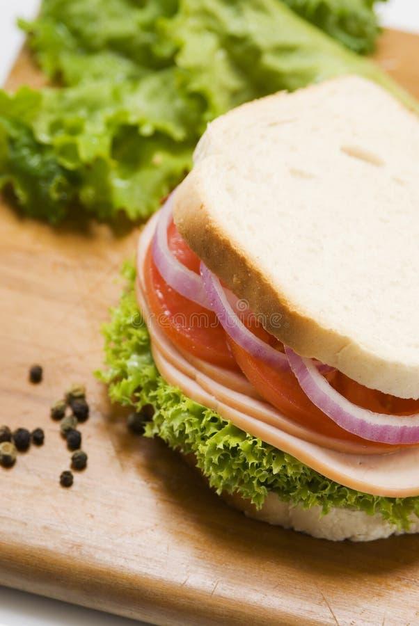 De sandwich van de ham royalty-vrije stock fotografie