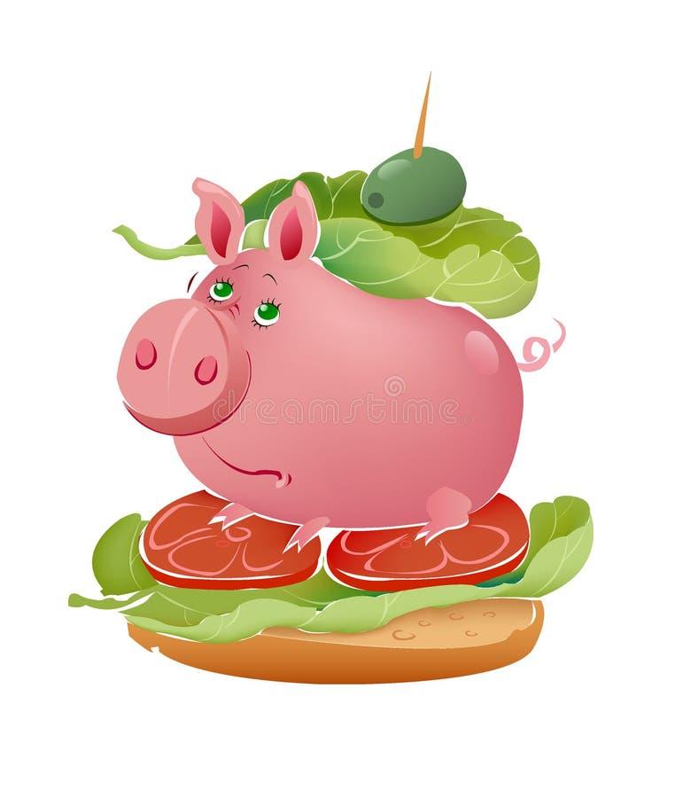 De sandwich van de ham vector illustratie
