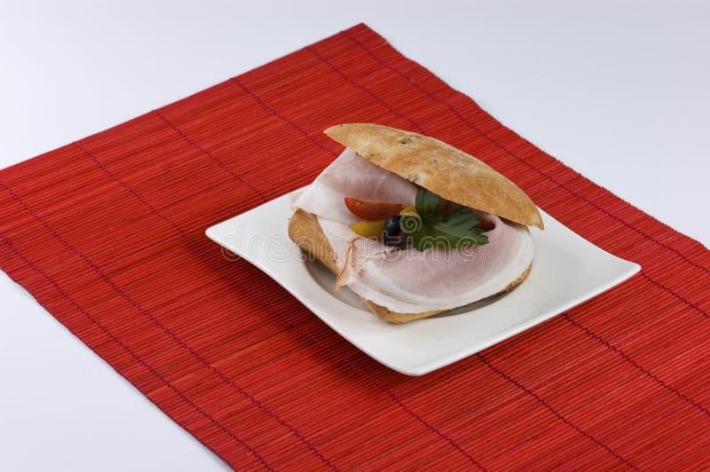 De sandwich van de ham royalty-vrije stock foto's