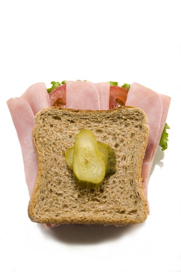 De sandwich van de ham en van de tomaat royalty-vrije stock afbeeldingen