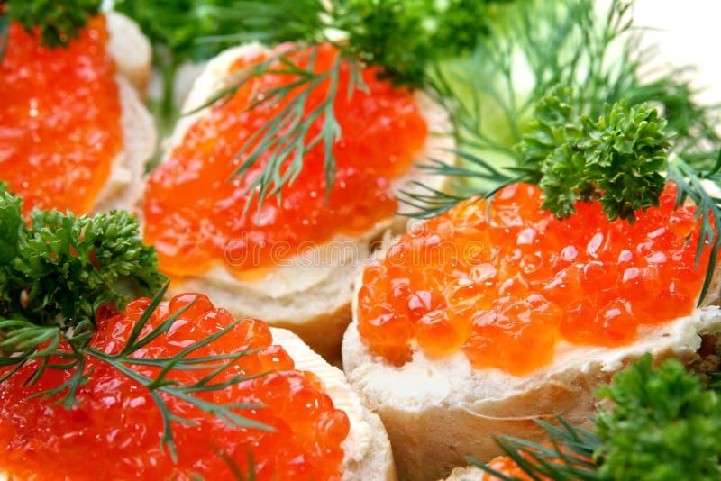 De sandwich van de kaviaar royalty-vrije stock afbeelding