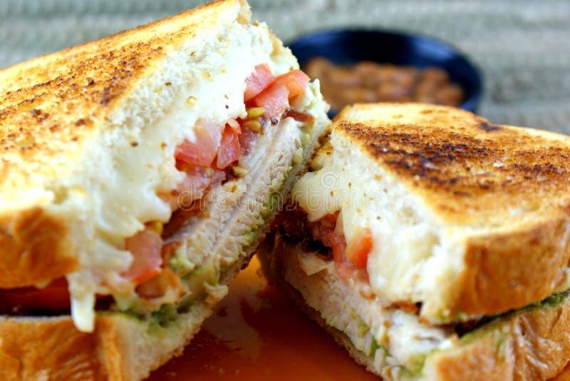 De Sandwich van de Kip van Californië stock afbeelding