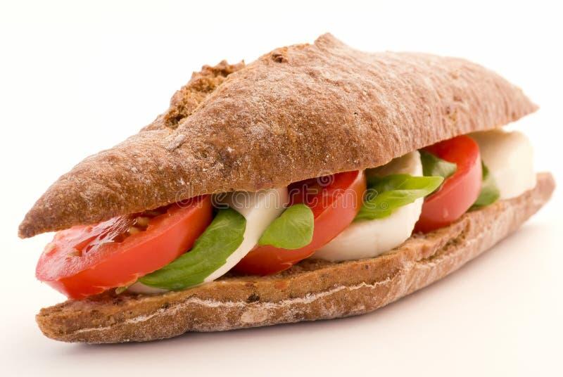 De Sandwich van de Mozarella van de tomaat stock fotografie