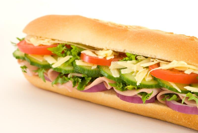 De Sandwich Van De Salade Van De Ham Royalty-vrije Stock Afbeeldingen