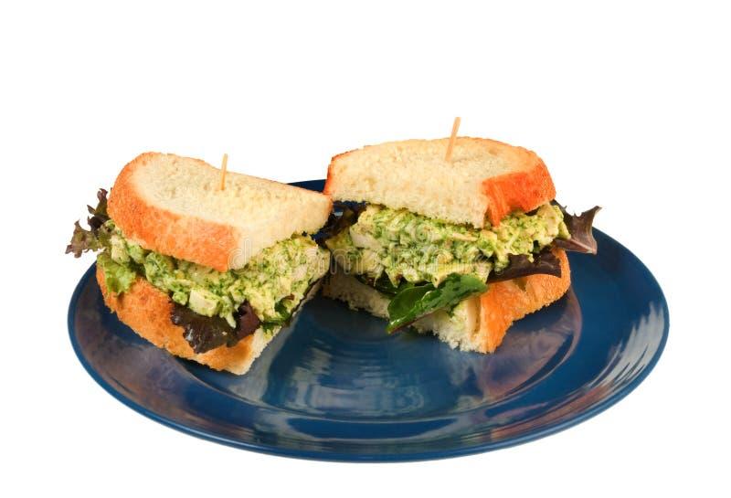De Sandwich van de Salade van de kip stock afbeeldingen