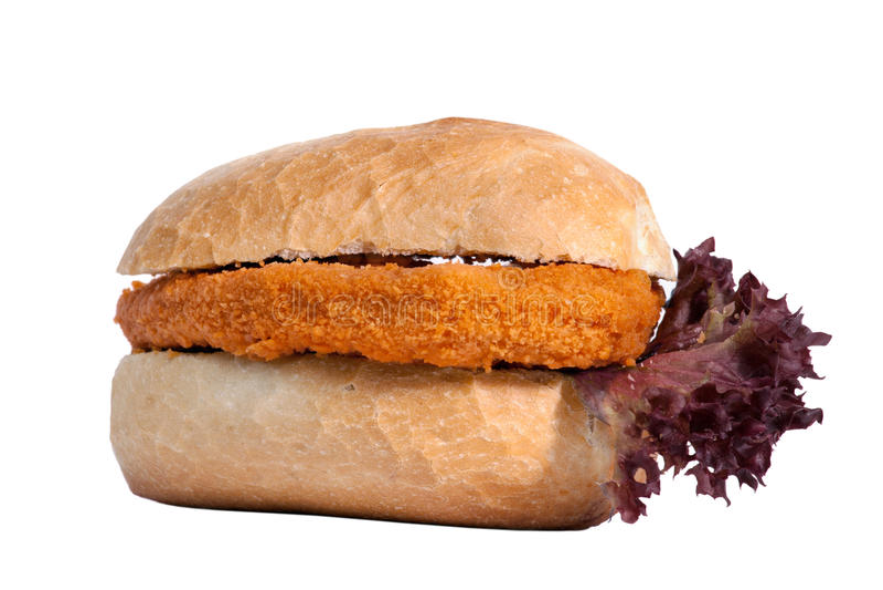 De Sandwich van de schnitzel royalty-vrije stock afbeelding