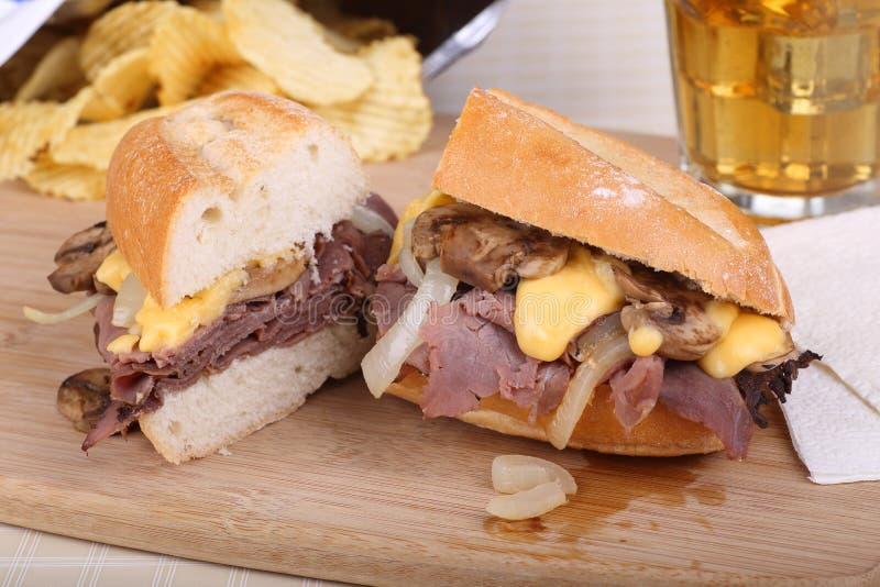 De Sandwich van het braadstukrundvlees royalty-vrije stock fotografie