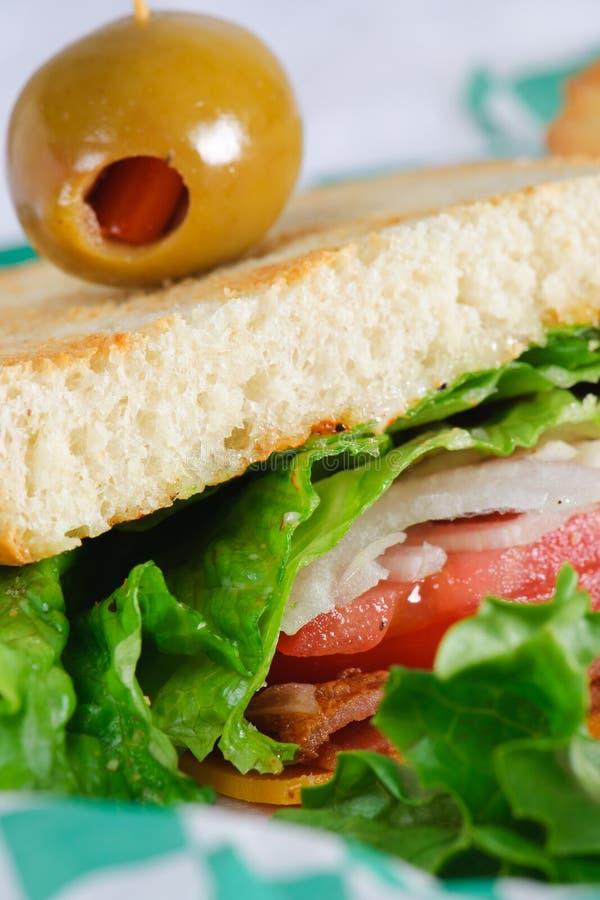 De Sandwich van het Huis van de club stock foto