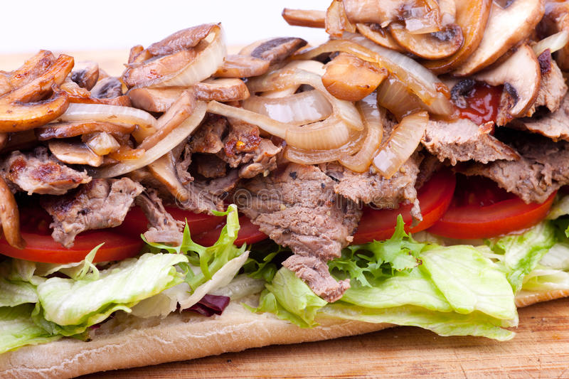 De sandwich van het lapje vlees stock foto's