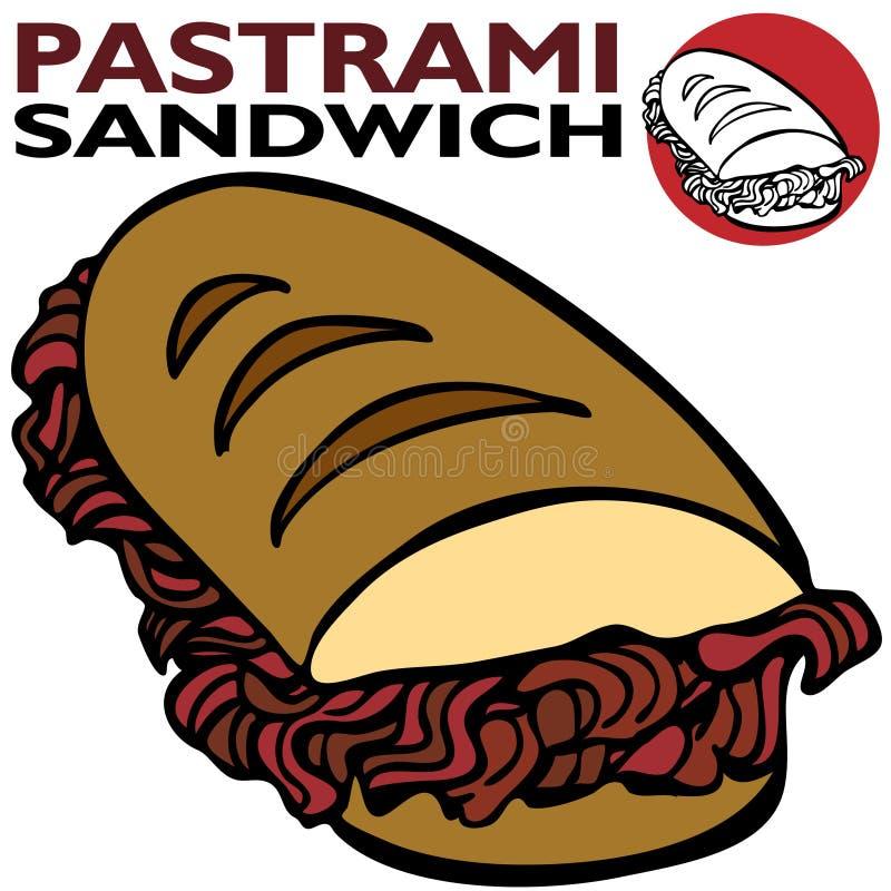 De Sandwich van Pastrami stock illustratie