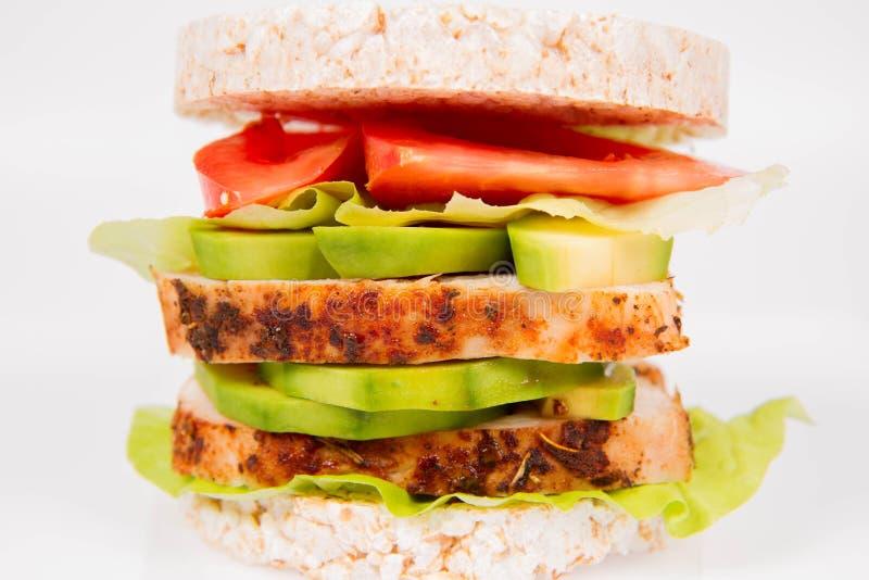 De sandwich van rijstwafels royalty-vrije stock afbeeldingen