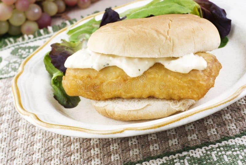 De Sandwich van vissen royalty-vrije stock foto's