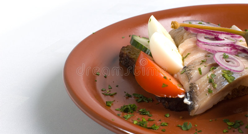 De Sandwich van vissen stock fotografie