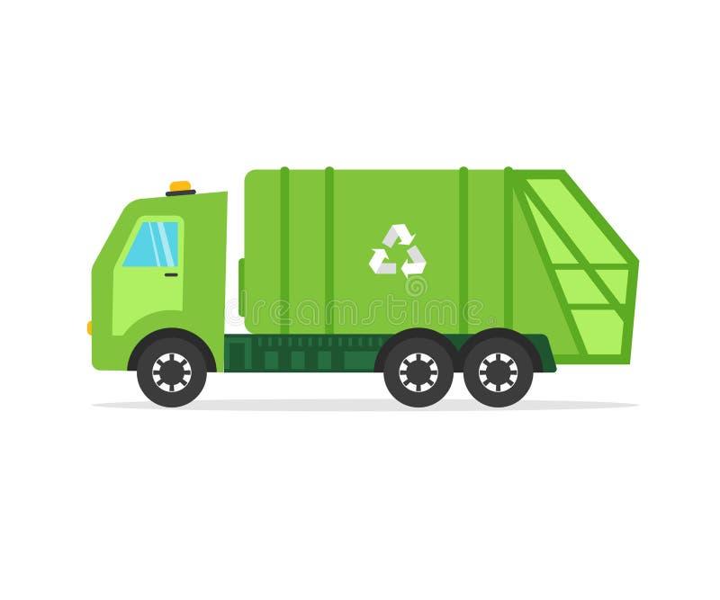 De sanitaire auto van het voertuighuisvuil, vrachtwagen voor het assembleren royalty-vrije illustratie