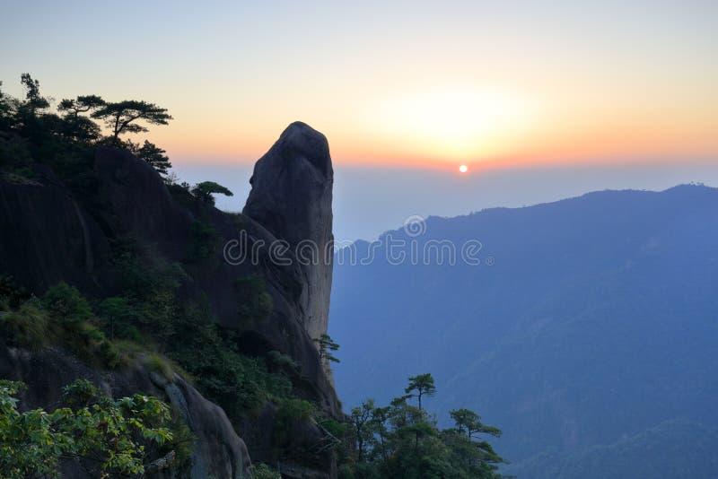 De sanqingshan stijging van de bergzon, rgb adobe stock fotografie
