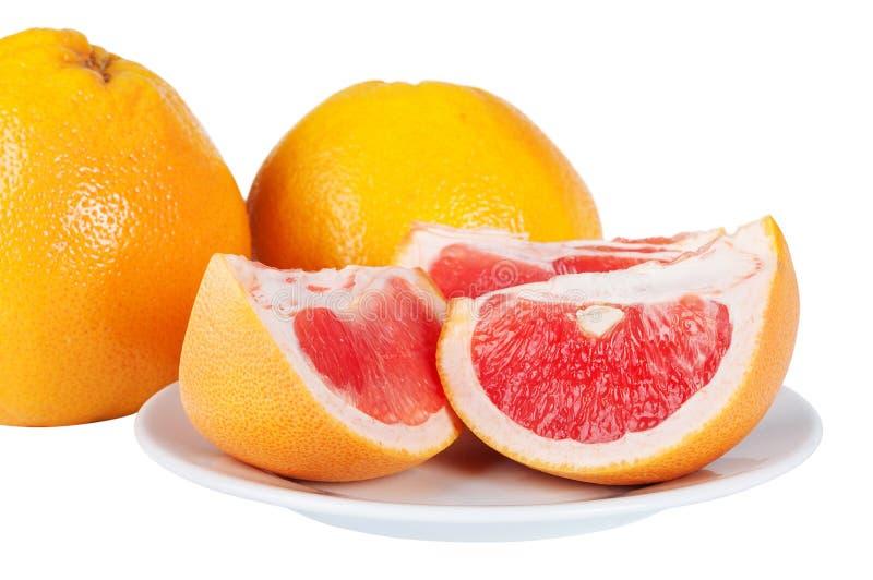 Download De Sappige Plakken Van De Grapefruit Stock Afbeelding - Afbeelding bestaande uit plaat, dieet: 29500709