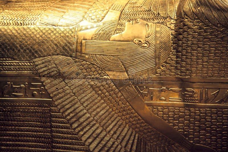 De sarcofaag van Tutankhamun stock afbeelding