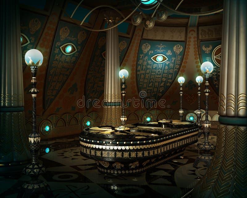 De Sarcofaagzaal, 3d CG royalty-vrije illustratie