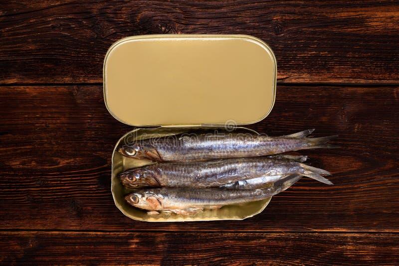 De sardines kunnen binnen royalty-vrije stock fotografie