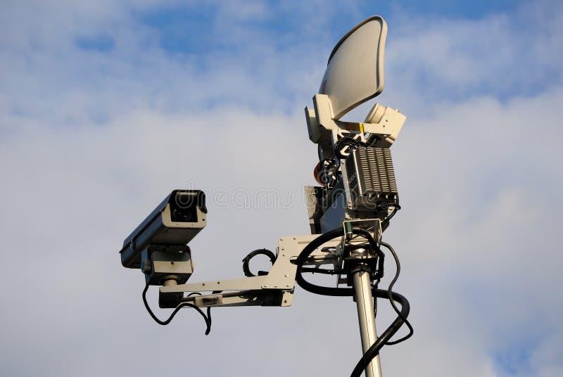 De Satelliet van de Vrachtwagen van het nieuws stock afbeelding