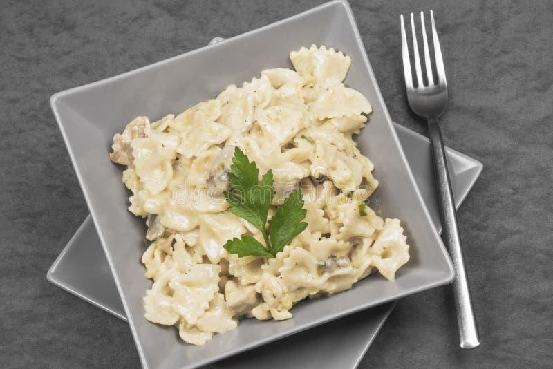 De saus Italiaans voedsel van de deegwarenkaas stock foto