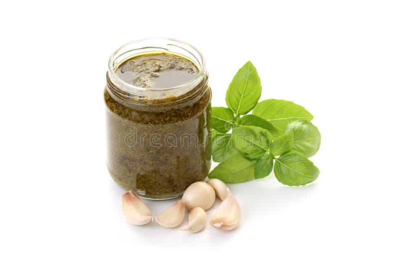 De saus van Pesto royalty-vrije stock afbeelding