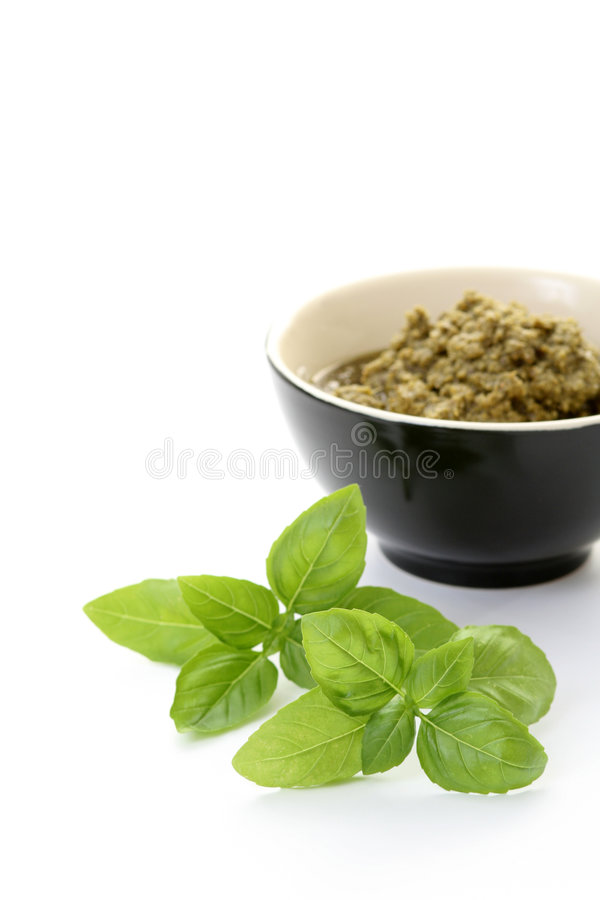 De saus van Pesto stock fotografie