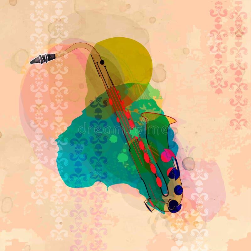 De saxofoon stock illustratie