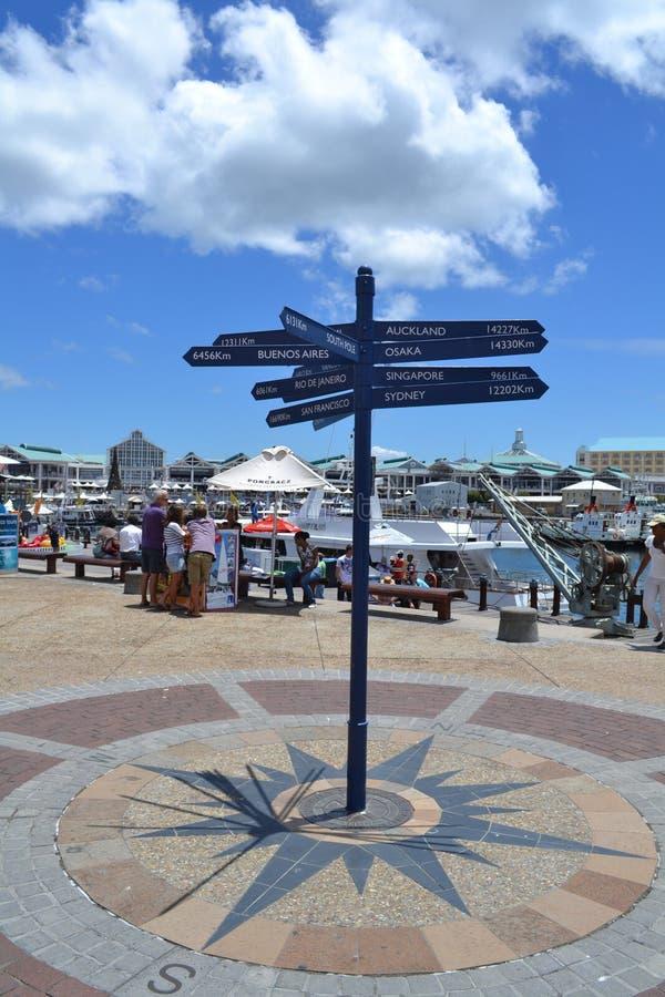 De scène van Cape Town in waterwarf royalty-vrije stock afbeelding
