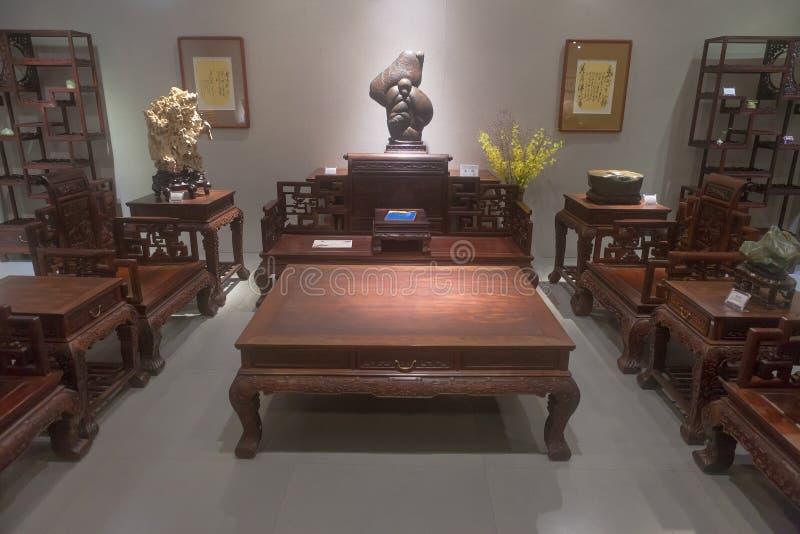De scène van Chinese stijlwoonkamer royalty-vrije stock foto's