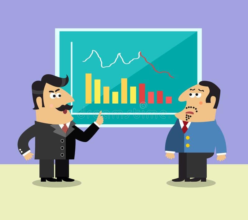 De scène van de bedrijfslevenaandeelhouder stock illustratie